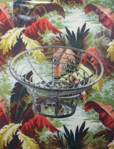 Laura Hart Newlon and Kate O'Neill, Tropical Depression (50s Barkcloth Tropical Jungle Palms Vintage Exotic), 2014