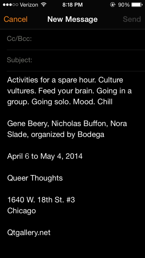 TOMORROW @ Queer Thoughts
